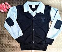 Детская рубашка обманка для мальчиков р-р 5-6/13-14 лет