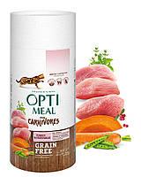 Беззерновой сухой корм Optimeal для взрослых кошек - индейка и овощи, 0,65кг