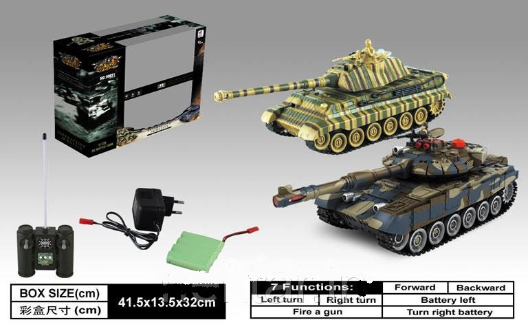 Танковый бой на р/у 99821 2 танка, 2 пульта