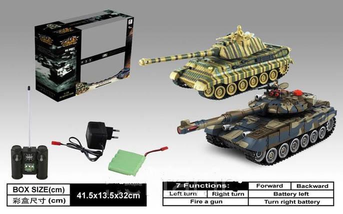 Танковый бой на р/у 99821 2 танка, 2 пульта, фото 2