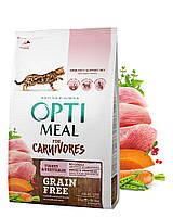 Беззерновой сухой корм Optimeal для взрослых кошек — индейка и овощи, 4 кг