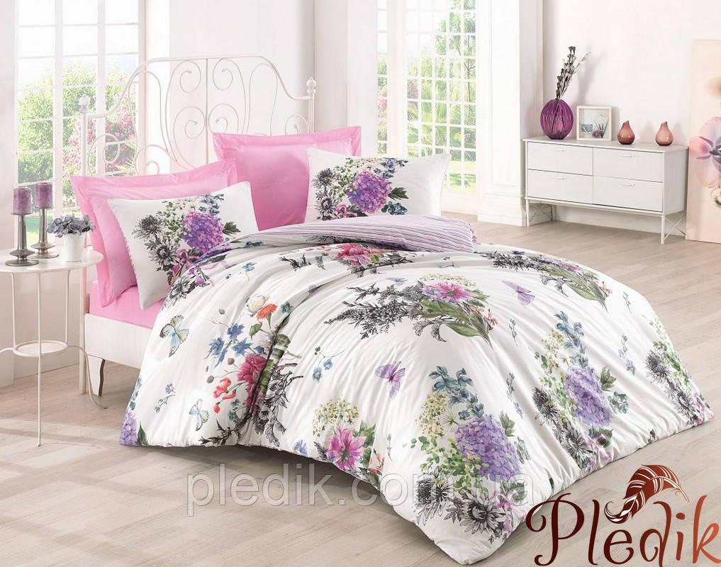Двуспальное постельное бельё 200х220 Cotton box Ранфорс STELLA PEMBE