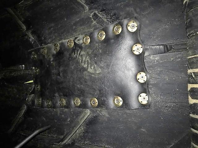 Ремонт продольного пореза комплектом РШМ-ПАТЧ с механическими соединителями РШМ