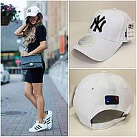 Крутая женская бейсболка  New York Yankees белая
