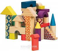 Деревянные кубики Battat - Еловый домик (40 деталей, в сумочке)