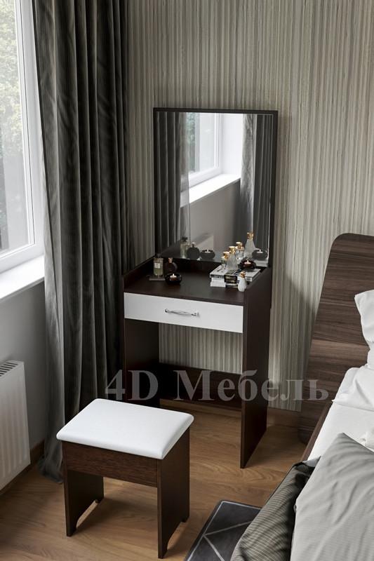 Компактный будуарный столик с зеркалом модель BS-106, производитель UGO-mebel
