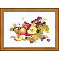 Набор для вышивания крестом Риолис Натюрморт с яблоками 0759