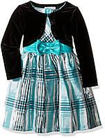 Платье Bonnie Jean Girls' Taffeta Plaid Cardigan Dress 5 лет