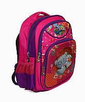 Школьный рюкзак для девочки розовый с3Dрисунком