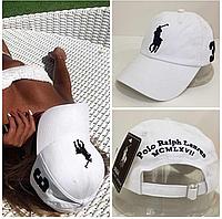Крутая женская кепка  Polo Ralph Lauren белая