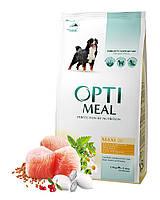 Сухой корм Optimeal для взрослых собак крупных пород - курица, 1.5кг
