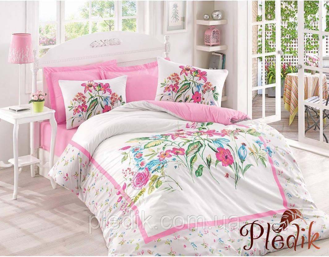 Двуспальное постельное бельё 200х220 Cotton box Ранфорс MEHSIMA PEMBE