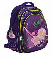 Школьный рюкзак для девочки с ортопедической спинкой и с отражателями