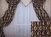 """Комплект ламбрекен  со шторами  из ткани """"Блэкаут"""" Код 063лш064"""