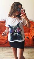 Майка блузка рубашка топ футболка хулиганка Кот