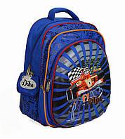 Школьный рюкзак для мальчиков с ортопедической спинкой  и с отражателями