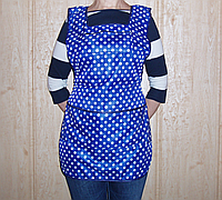 Фартук для продавца большой  р. (58), синий , в горох