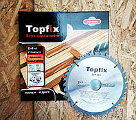 Пильный диск по дереву,с победитовыми напайками TOPFIX (топфикс), 125х22.2х24т