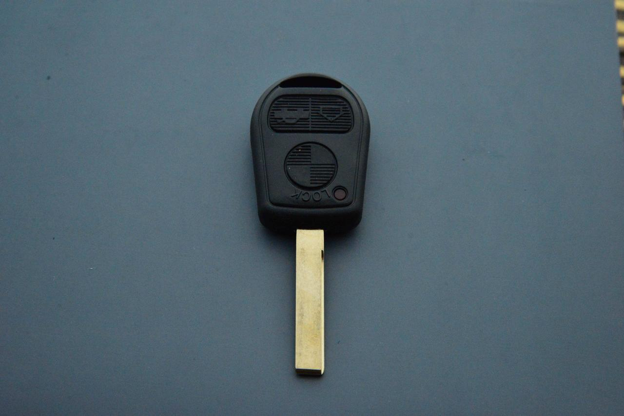 Корпус авто ключа для BMW E46 (БМВ) 3 кнопки, лезвие HU 92