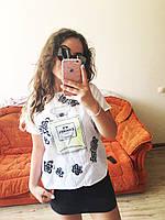 Майка блузка рубашка топ футболка хулиганка Шанель