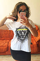 Майка блузка рубашка топ футболка хулиганка Лев