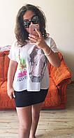 Майка блузка рубашка топ футболка хулиганка Paris