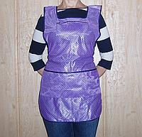 Фартук для продавцов  р. (58), фиолетовый , в горох