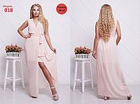 Легкое шифоновое платье женское летнее