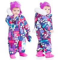 Зимний комбинезон для девочки 6-30 месяц. (комбинезон, рукавички, пинетки, манишка) ТМ Deux par Deux D703-004