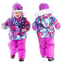 Зимний комплект для девочки 6-36 месяц. (куртка, полукомбинезон, рукавич., манишка) ТМ Deux par Deux Розовый D503-004