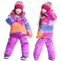 Зимний комплект для девочки от 2 до 4 лет (куртка, полукомбинезон) ТМ Deux par Deux Розовый E803-559