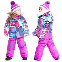 Зимний комплект для девочки от 2 до 5 лет (куртка, полукомбинезон) ТМ Deux par Deux Розовый D803-531
