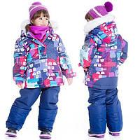 Зимний комплект для девочки от 2 до 7 лет (куртка, полукомбинезон) ТМ Deux par Deux Синий D803-598