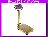 Весы электронные торговые 100кг с усиленной платформой 30х40см TCS-K-17-100kgh