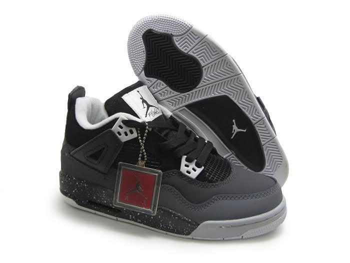 9c0960cf9b30 Баскетбольные Кроссовки Nike Air Jordan 4 Черно-серые — в Категории