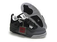 Баскетбольные кроссовки Nike Air Jordan 4 черно-серые
