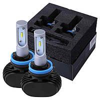 Автолампа LED H8, H9, H11, 50W, 8000LM, 5000K, 9-32V (пара), фото 1