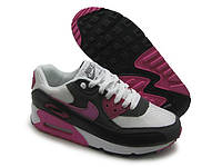 Кроссовки женские Nike Air Max 90 Essential бело-черно-розовые