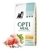 Сухой корм Optimeal для взрослых собак крупных пород - курица, 12кг