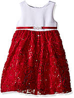 Нарядное платье American Princess Girls' Sequin Soutache Skirt Holiday Party Dress 4 года