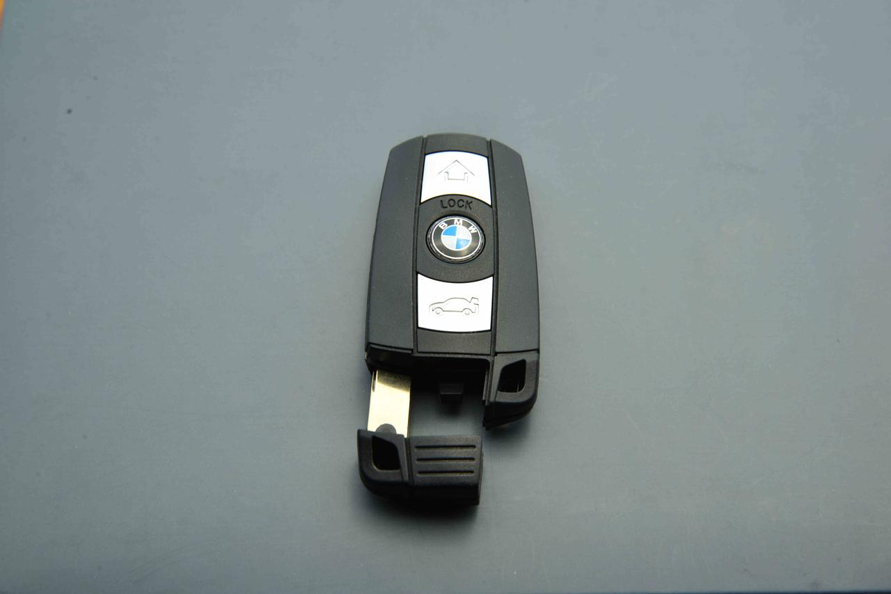 Корпус смарт ключа для BMW Е60, Е65, Е70, Е87, Е90, Х1, Х5, Х6 (БМВ) 3 - кнопки с отсеком для батарейки