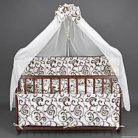 """Комплект  постельного белья для новорожденного """" Ажур белый """""""