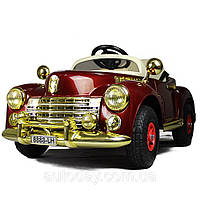 Детский электромобиль Buick 8888 RETRO - БОРДО (резиновые колеса) - Купить оптом