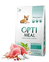 Сухой корм Optimeal для щенков всех пород - индейка, 4кг