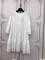 Шикарное Платье Белое Летнее Destello (S) Котон