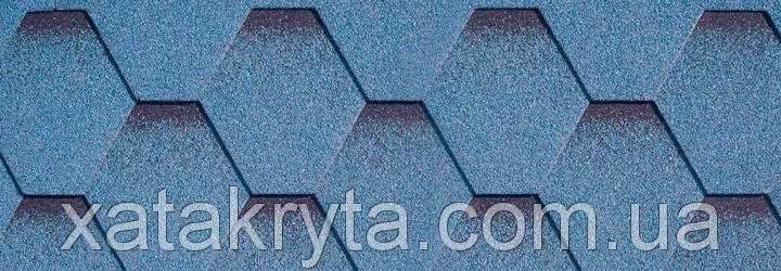 Битумная черепица катепал katepal katrilli синий, фото 2