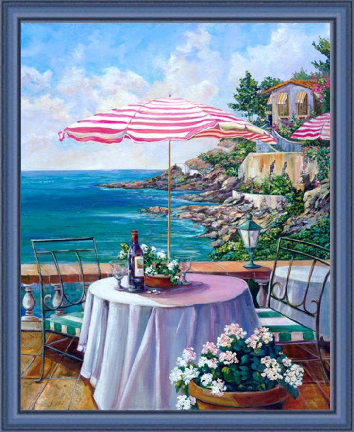 Репродукция картины современной мировой живописи «Ожидание обеда»