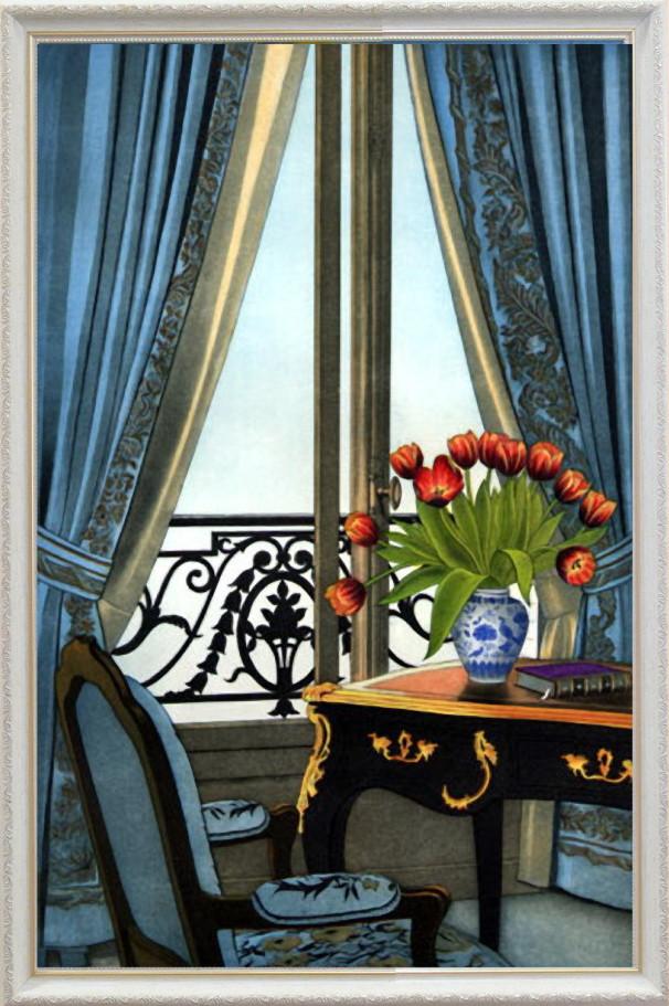 Репродукция картины современной мировой живописи  «Парижский уют «