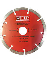 Отрезной алмазный диск по бетону и кирпичу TIP (тип) сенгментированный, 125х22