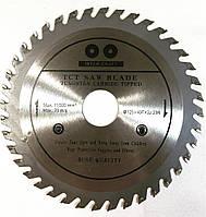 Пильный диск по дереву,с победитовыми напайками ИНТЕРКРАФТ, 125x22.2x40